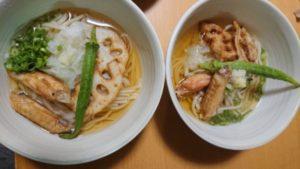 玄米麺レシピレンコンの天ぷら